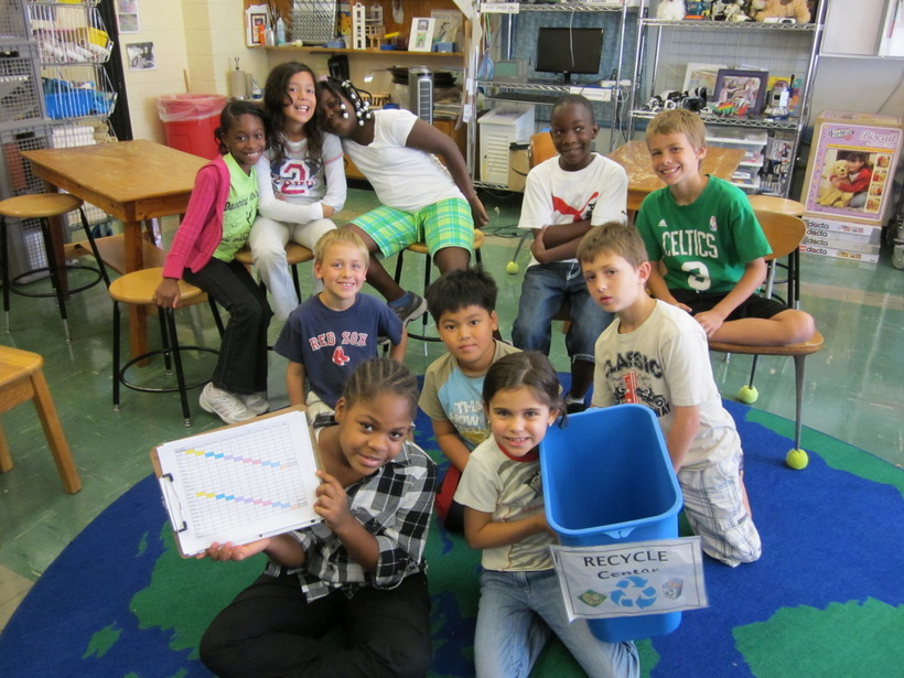 Classroom Kids Recycling