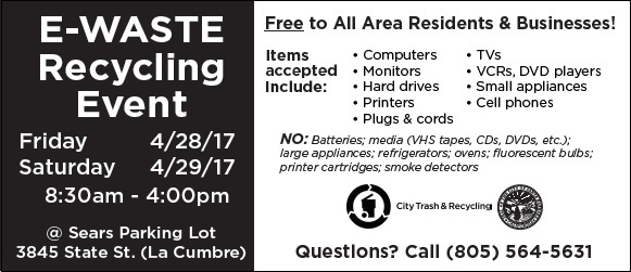 City of SB E-Waste Event April 2017